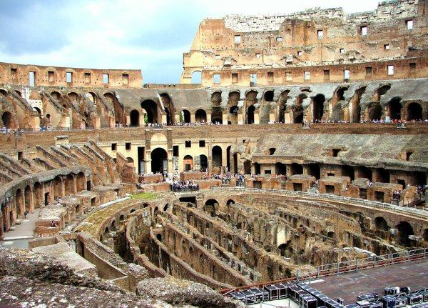 A Colosseum belülről is impozáns