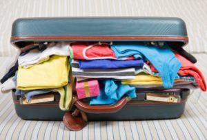 Bőrönd pakolás