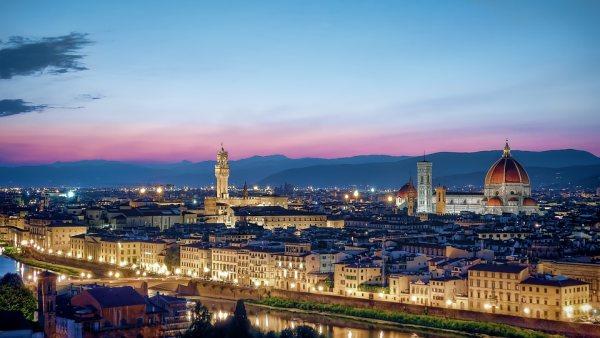 Toszkána és az egyik legszebb olasz város, Firenze látképe