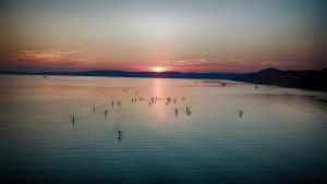 SUP Tihany naplemente