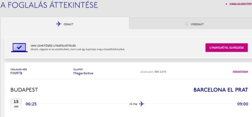 Wizzair check in 2