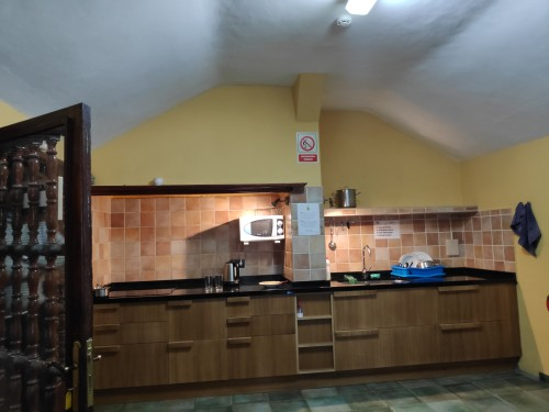 A menedékház konyhája