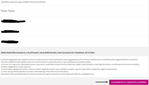 Wizzair check in 7
