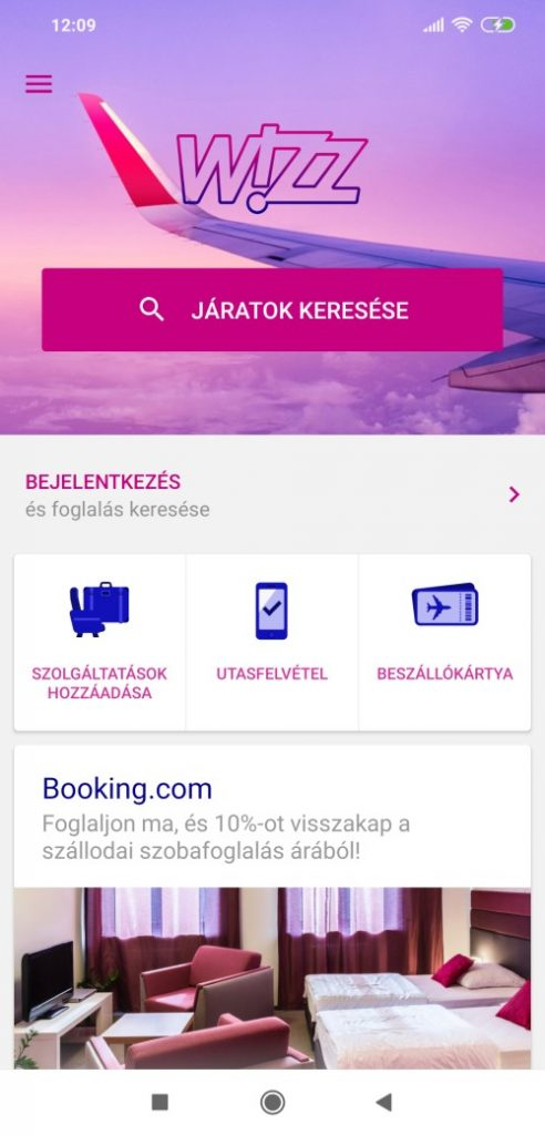 Wizzair check in mobil 1