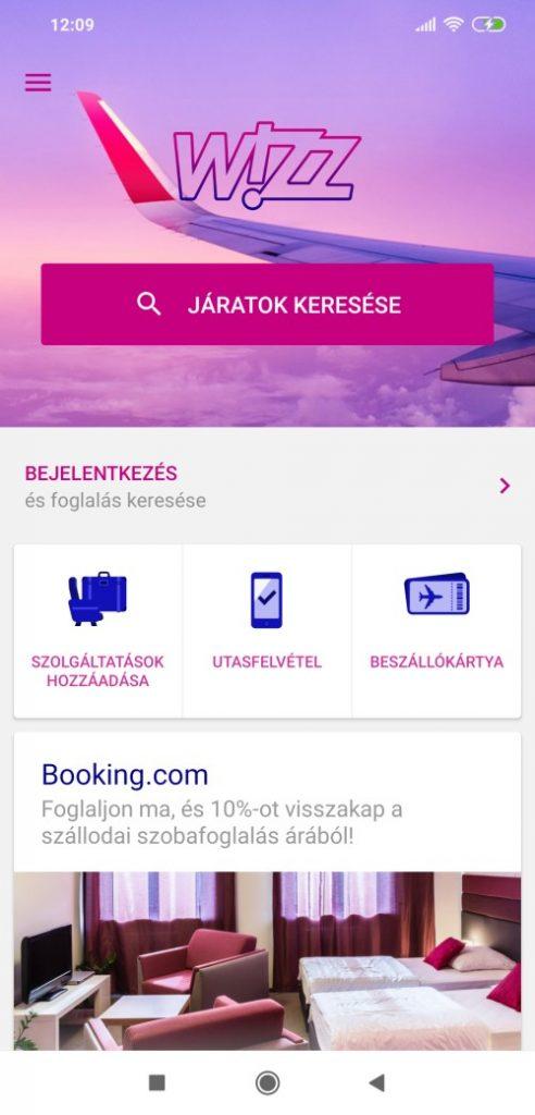 Wizzair check in mobil 1