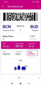 Wizzair check in mobil 3