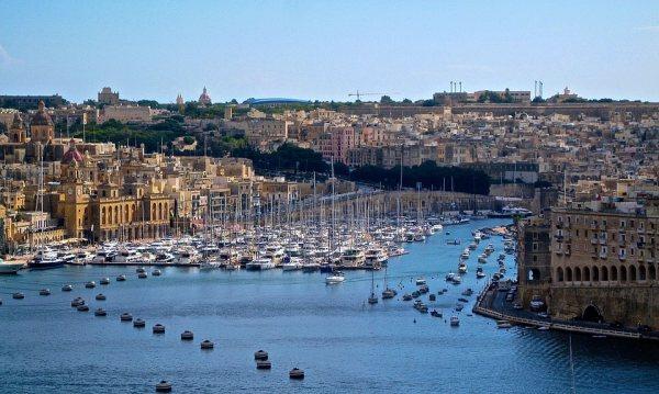Málta fővárosának, Vallettának a látképe
