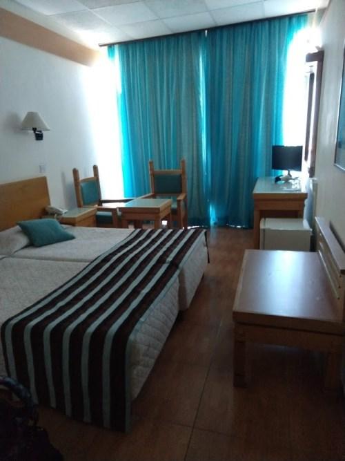 A szállodai szobánk