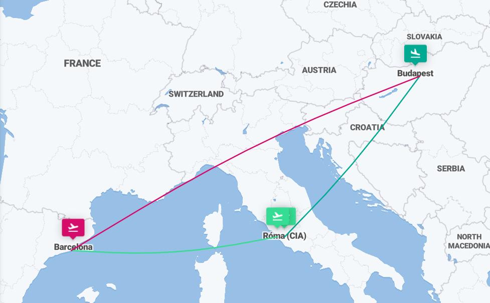Róma és Barcelona körutazás